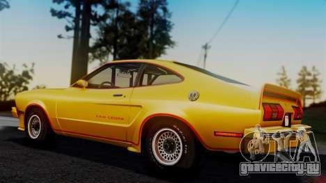Ford Mustang King Cobra 1978 для GTA San Andreas салон
