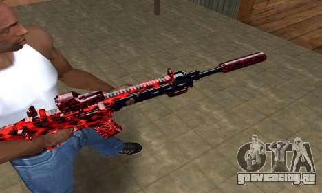 Red Leopard M4 для GTA San Andreas