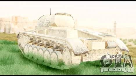 Panzerkampwagen II Desert для GTA San Andreas вид слева