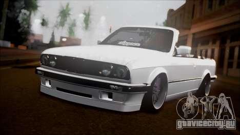 BMW E30 Cabrio B.O. Yapım для GTA San Andreas вид сзади
