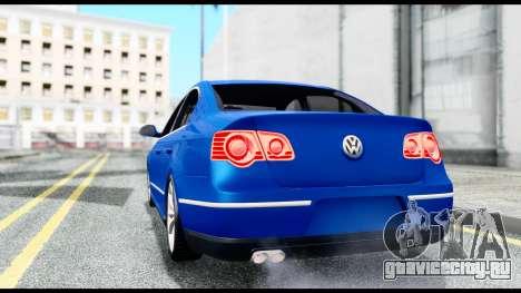 Volkswagen Passat B6 для GTA San Andreas вид сзади слева