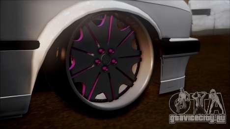 BMW E30 Cabrio B.O. Yapım для GTA San Andreas вид сзади слева