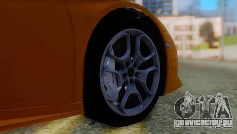 Lamborghini Huracan 2015 Horizon Wheels для GTA San Andreas вид сзади слева
