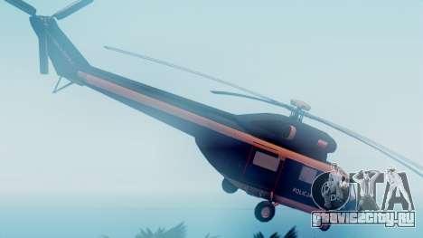 PZL W-3A Sokol для GTA San Andreas вид сзади слева