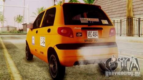 Daewoo Matiz Taxi для GTA San Andreas вид слева