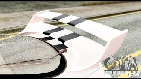 Toyota Supra Full Tuning v2 для GTA San Andreas вид сзади
