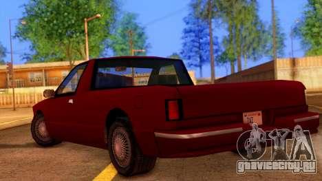 Premier Pickup для GTA San Andreas вид слева