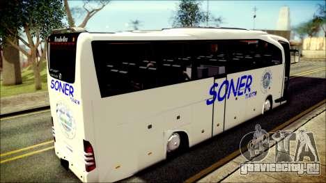 Mercedes-Benz Travego Soner Turizm для GTA San Andreas вид сзади слева