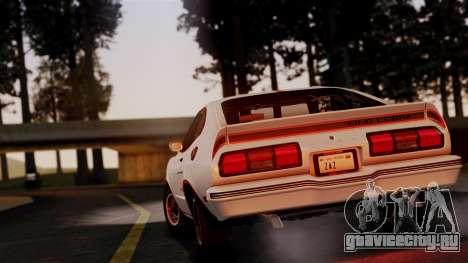 Ford Mustang King Cobra 1978 для GTA San Andreas вид справа