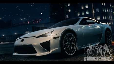Lexus LF-A 2010 EPM для GTA 4 вид сзади слева