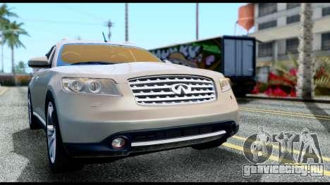 Infiniti FX45 для GTA San Andreas вид справа