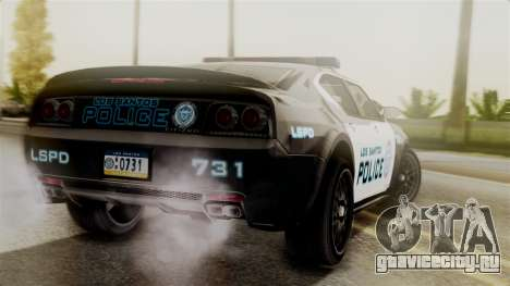 Hunter Citizen from Burnout Paradise Police LS для GTA San Andreas вид слева