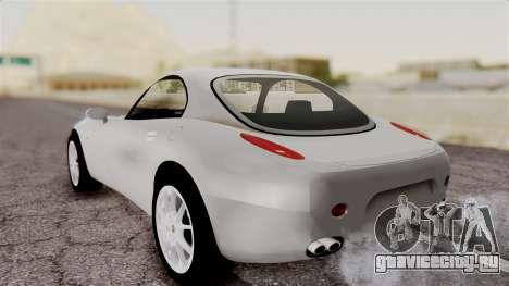 Alfa Romeo Nuvola для GTA San Andreas вид сзади слева