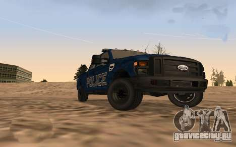 Ford F-250 Incident Response для GTA San Andreas вид сзади слева