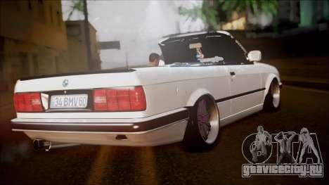 BMW E30 Cabrio B.O. Yapım для GTA San Andreas вид слева