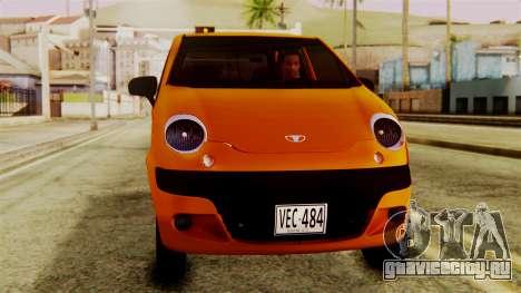 Daewoo Matiz Taxi для GTA San Andreas вид справа