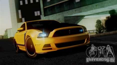 Ford Mustang Boss 302 2013 для GTA San Andreas вид сзади