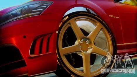 Mercedes-Benz S65 для GTA San Andreas вид сзади слева
