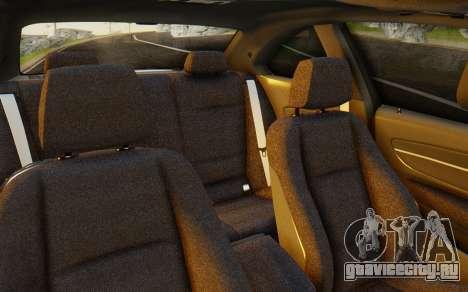 BMW 1M E82 для GTA San Andreas вид изнутри