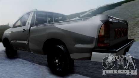 Toyota Hilux 2015 для GTA San Andreas вид слева