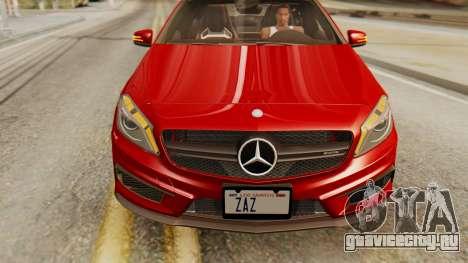Mercedes-Benz A45 AMG 2012 для GTA San Andreas вид справа