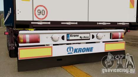 Trailer Krone Profiliner v1 для GTA San Andreas вид сзади