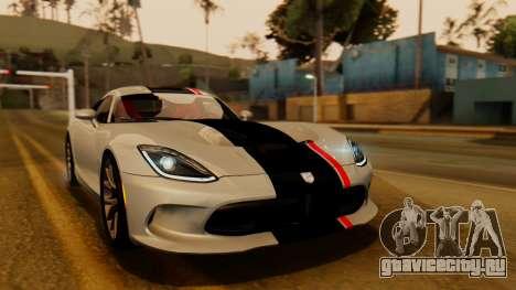 Dodge Viper SRT GTS 2013 IVF (HQ PJ) HQ Dirt для GTA San Andreas вид снизу