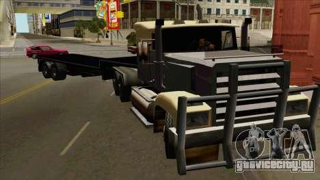 Flat Trailer для GTA San Andreas вид сзади слева