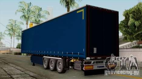 Trailer Krone Profiliner v2 для GTA San Andreas вид слева