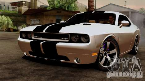 Dodge Challenger SRT8 392 2012 Stock Version 1.0 для GTA San Andreas