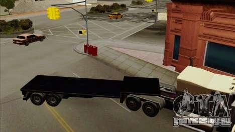 Flat Trailer для GTA San Andreas вид слева