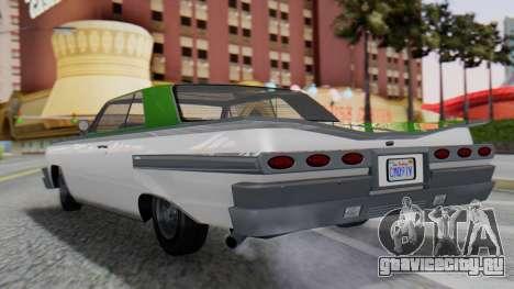 GTA 5 Declasse Voodoo для GTA San Andreas вид слева