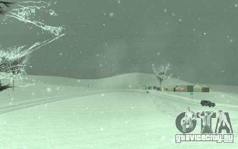 Зимний Timecyc для GTA San Andreas третий скриншот