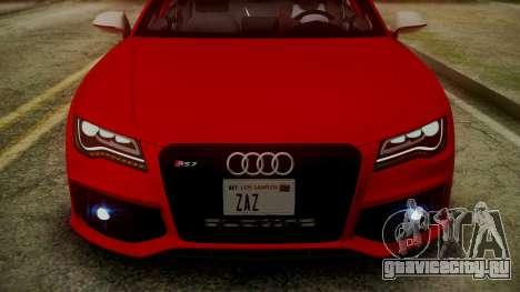 Audi RS7 2014 для GTA San Andreas салон