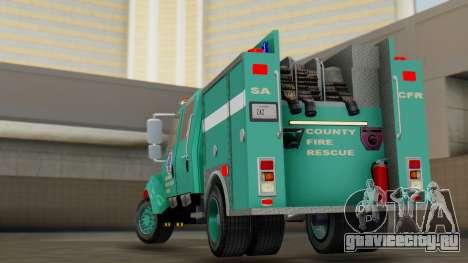 SACFR International Type 3 Rescue Engine для GTA San Andreas вид слева