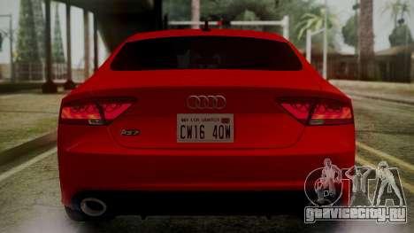 Audi RS7 2014 для GTA San Andreas колёса
