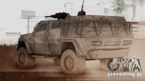 BAE Systems JLTV Extra Skin для GTA San Andreas вид сзади слева