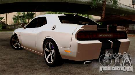 Dodge Challenger SRT8 392 2012 Stock Version 1.0 для GTA San Andreas вид слева