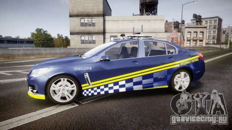 Holden VF Commodore SS Highway Patrol [ELS] v2.0 для GTA 4 вид слева