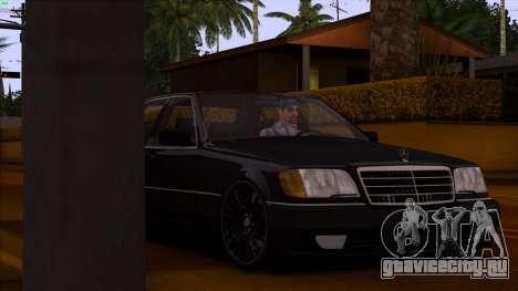 Mercedes-Benz S600 W140 для GTA San Andreas вид сверху