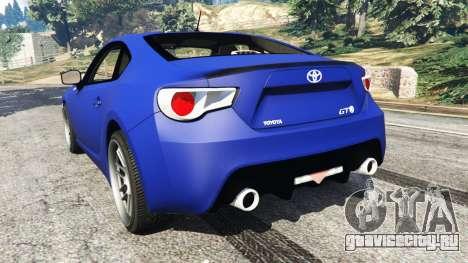 Toyota GT-86 [Beta] для GTA 5 вид сзади слева