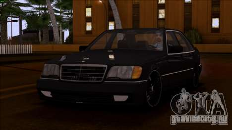 Mercedes-Benz S600 W140 для GTA San Andreas вид сбоку