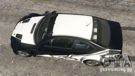 BMW M3 GTR E46 white on black для GTA 5 вид сзади