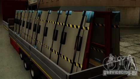 Flatbed3 Red для GTA San Andreas вид сзади