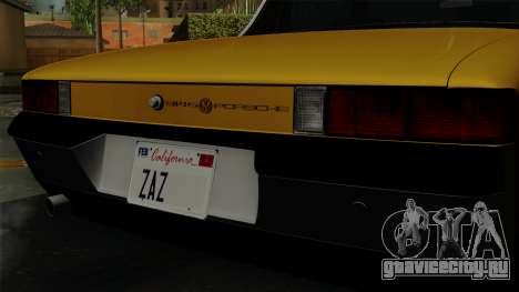 Porsche 914 1970 для GTA San Andreas вид сзади