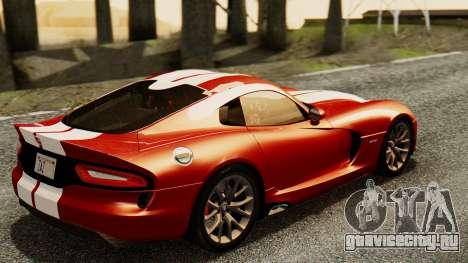 Dodge Viper SRT GTS 2013 IVF (MQ PJ) HQ Dirt для GTA San Andreas вид слева