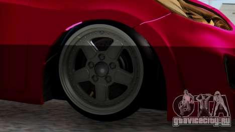 Hyundai Accent Blue для GTA San Andreas вид сзади слева