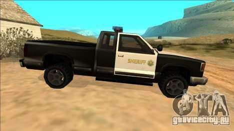 New Yosemite Police v2 для GTA San Andreas вид изнутри