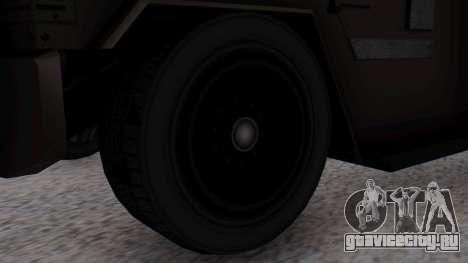 GTA 5 Enforcer S.W.A.T. для GTA San Andreas вид сзади слева