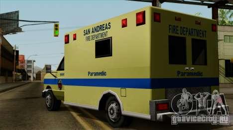 SAFD SAX Rescue Ambulance для GTA San Andreas вид слева